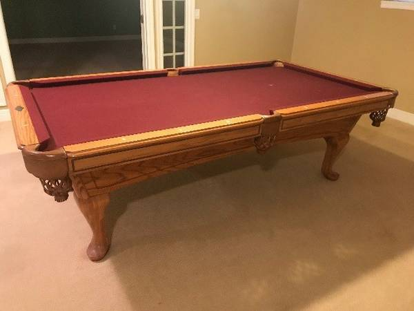 Included With The Pool Table Are 5 Ques, Balls, 2 Racks, Floor Model Que  Holder And A Ping Pong Table Top. The Pool Table Has Been Disassembled And  Can Be ...