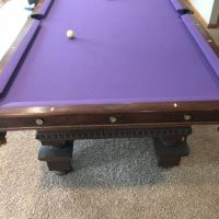Antique 1900'S Refurbished Pool Table