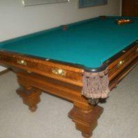 Brunswick Antique Pool Table
